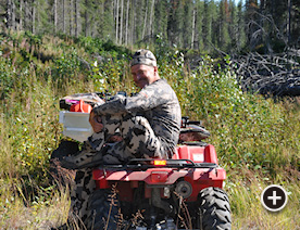 ATV Access to best hunting spots